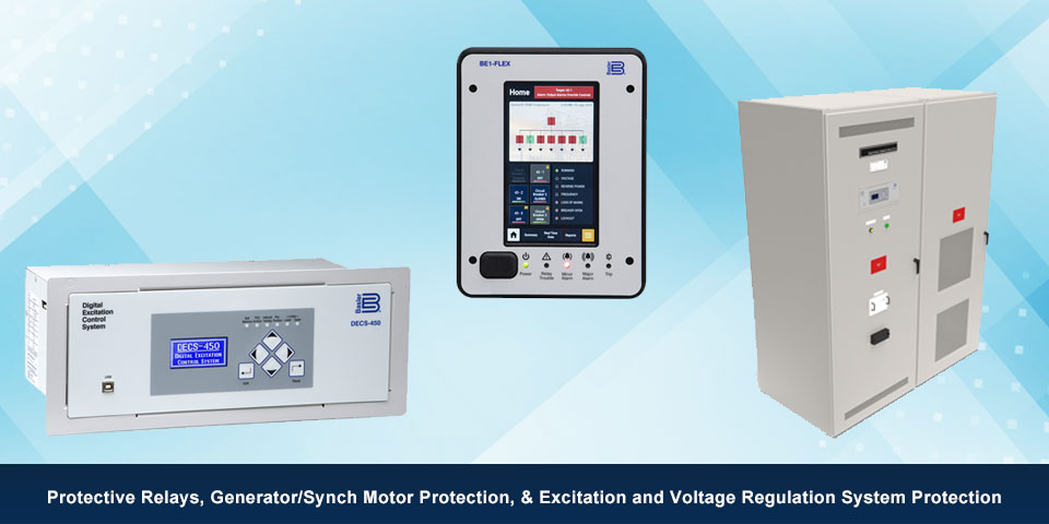 Protective Relays, Generator/Synch Motor Protection, & Excitation and Voltage Regulation System Protection