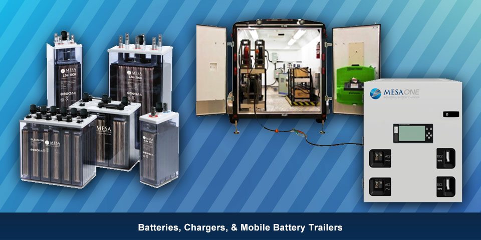 Batteries, Chargers, & Mobile Battery Trailers